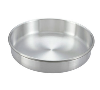 Winco ACP-082 Aluminum Layer Cake Pan, 8 x 2-in