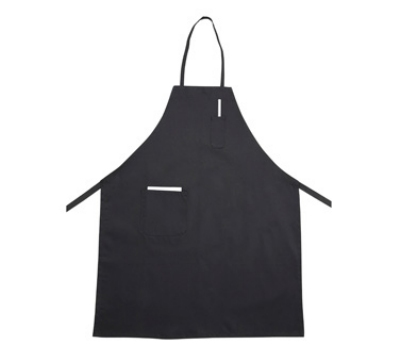 Winco BA-PBK Bib Apron w/ Pocket, Black