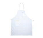 Winco BAPWH Bib Apron w/ Pocket, 31 x 26-in, White
