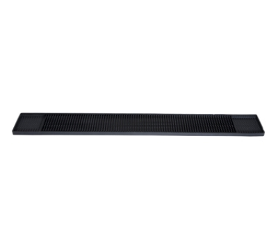 Winco BM-327K Rubber Bar Mat, 27 x 3.25-in, Black