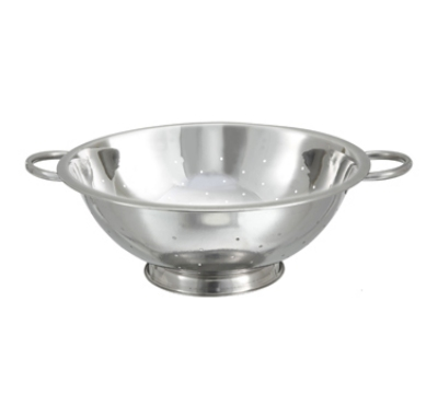 Winco COD-8 8-qt Colander w/ 14-in Bowl Diameter, Stainless