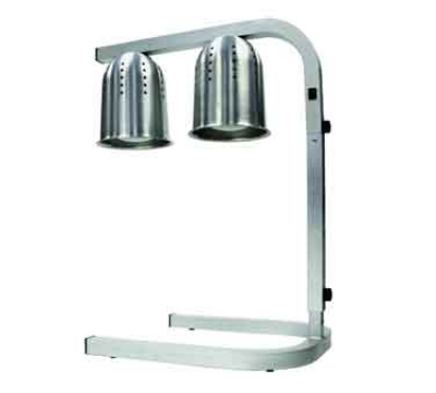 Winco EHL-2 Free-Standing Heat Lamp w/ Aluminum Frame & Hood, 2-Bulb, Adjustable