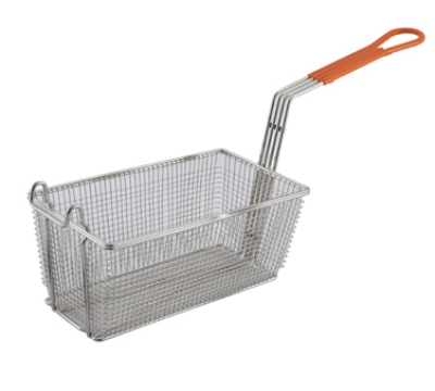 Winco FB-10 Heavy Duty Fry Basket w/ Plastic Handle, 12.12 x 6.5 x 5.37-in