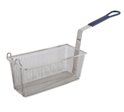 Winco FB20 Heavy Duty Fry Basket w/ Plastic Handle, 13.25 x 5.62 x 5.87-i