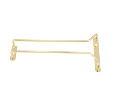 Winco GH-10 10-in Wire Glass Hanger, Brass Plated