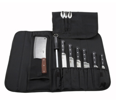 Winco KBG-10 10-Compartment Polyester Knife Bag
