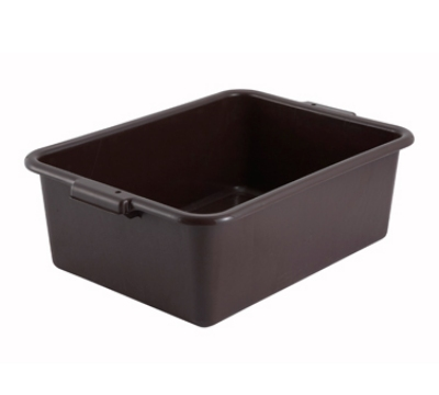 Winco PL-7B 7-in Plastic Dish Box, Brown