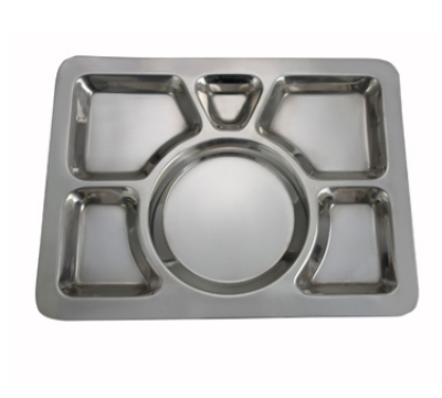 Winco SMT-1 6-Compartment Mess Tray
