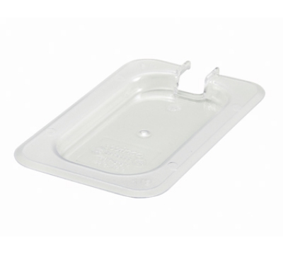 Winco SP7900C 1/9-Size Slotted Food Pan Cover, Polyc