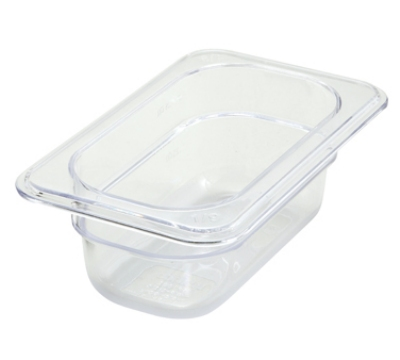 Winco SP7902 1/9-Size Food Pan, 2.5-in Deep, Break Resistant Polycarbonate