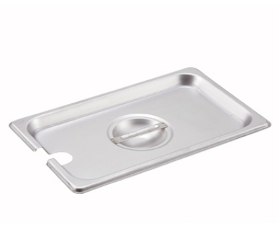Winco SPCQ 1/4-Size Slotted Steam Table Pan Cover, Stainless