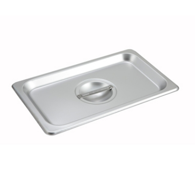 Winco SPSCQ 1/4-Size Solid Steam Table Pan Cover, Stainless