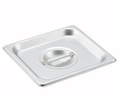 Winco SPSCS 1/6-Size Solid Steam Table Pan Cover, Stainless
