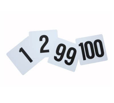 Winco TBN-100 Table Numbers for 1-100, 4 x