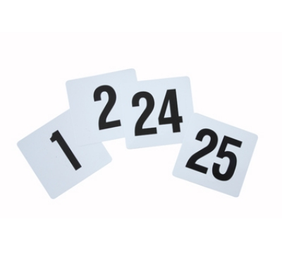 Winco TBN-25 Table Numbers for 1-25, 4 x 3.75-in