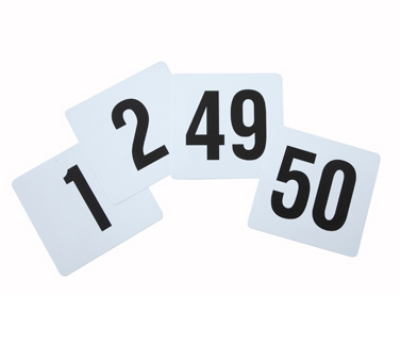 Winco TBN-50 Table Numbers for 1-50, 4 x 3.75-in