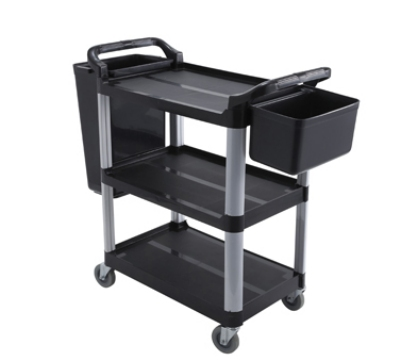 Winco UC-40K 3-Tier Utility Cart, Black