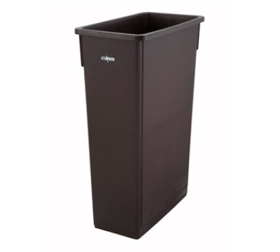 Winco PTC-23B 23-ga Slender Trash Can, Brown