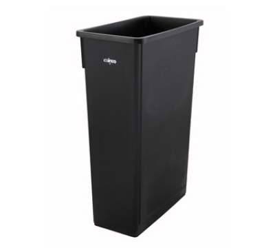 Winco PTC-23K 23-ga Slender Trash Can, Black