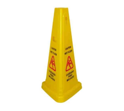 Winco WCS-27T 27-in Tri-Cone Wet Floor Caution Sign