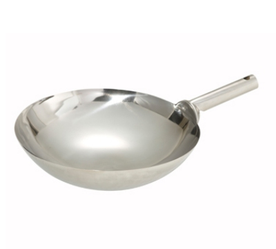 Winco WOK-16W 16-in Chinese Wok, 1.2mm Thick, Welded Joint, Mirror Finish, Stainless