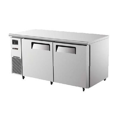 Turbo Air JUF-60 2-Section Undercounter Freezer w/ Door & Shelves, 15-cu ft, Stainless