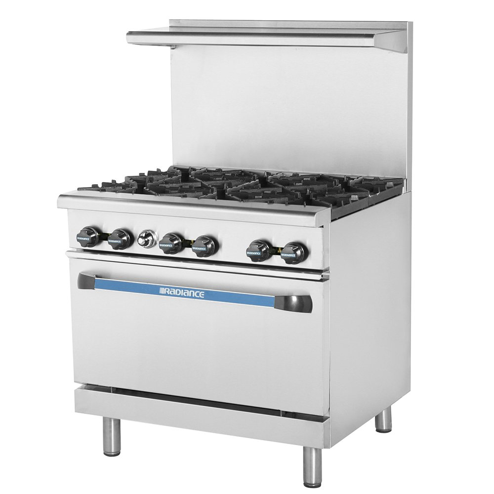 "Turbo Air TAR-6 36"" 6-Burner Gas Range, NG"