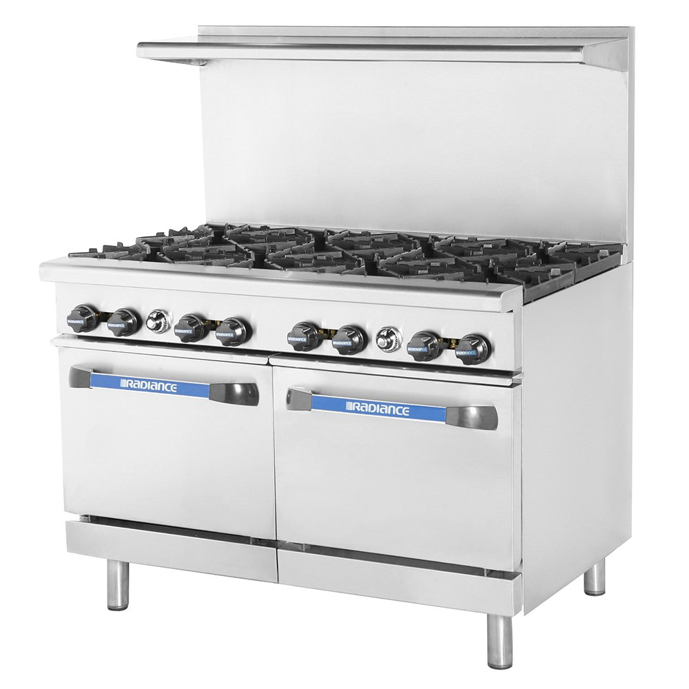 "Turbo Air TAR-8 48"" 8-Burner Gas Range, NG"
