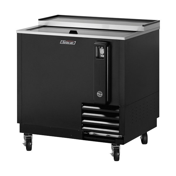 "Turbo Air TBC-36SB 36.75"" Forced Air 288-Capacity Bottle Cooler - Stainless Interior, 115v"