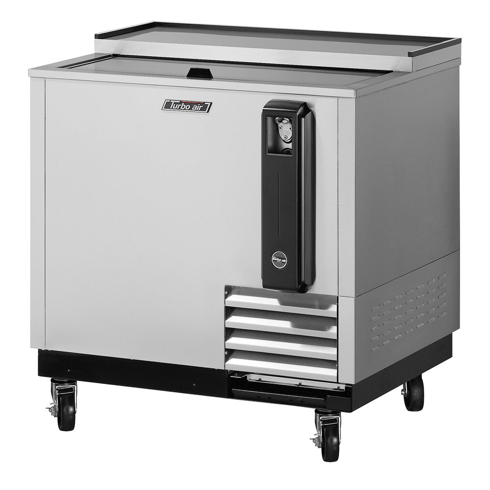 Turbo Air TBC-36SD 36-in Bottle Cooler w/ Sliding Door, Removable Cap Opener, Stainless