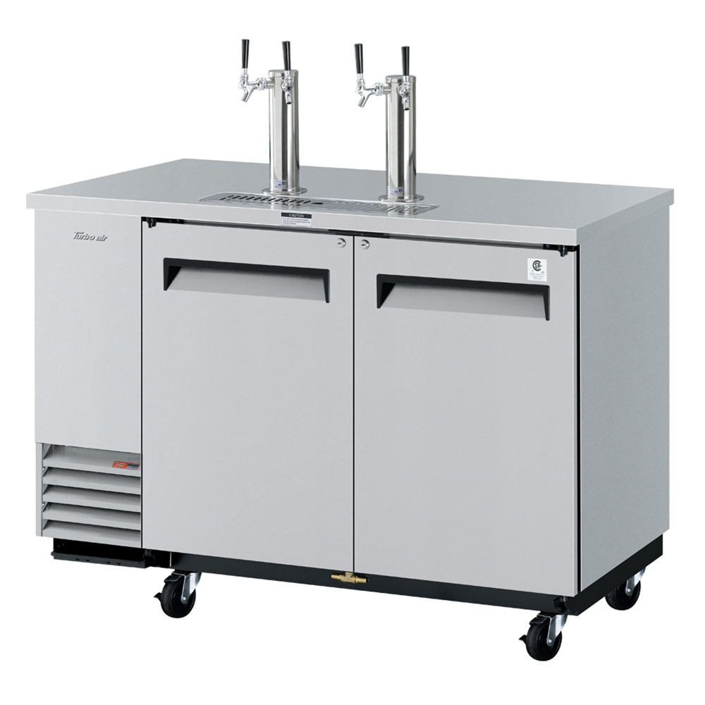 "Turbo Air TBD-2SD 58.75"" Draft Beer System w/ (2.5) Keg Capacity - (2) Columns, Stainless,"