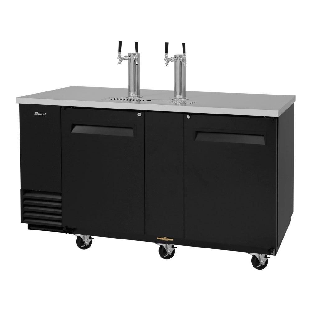 "Turbo Air TBD-3SB 69.12"" Draft Beer System w/ (3.5) Keg Capacity - (2) Columns, Black, 115v"