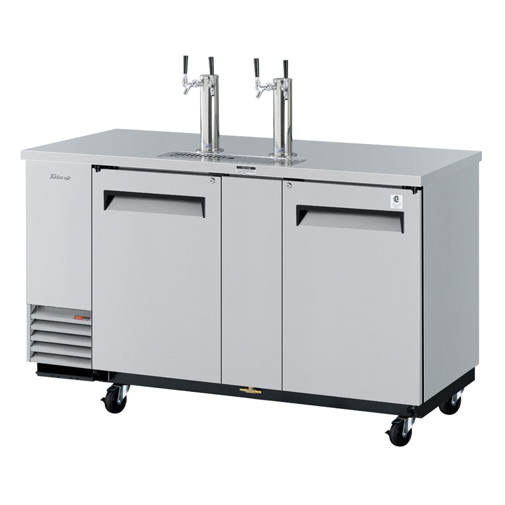 """Turbo Air TBD-3SD 69.12"""" Draft Beer System w/ (3.5) Keg Capacity - (2) Columns, Stainless, 11"""