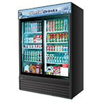 "Turbo Air TGM-48RB 55.88"" Two-Section Refrigerated Display w/ Sliding Doors, Bottom Mount Compressor, 115v"