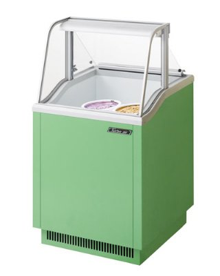 Turbo Air TIDC26G 26-in Dipping Cabinet Holds (4) 3-Gallon Cans, Lime Green