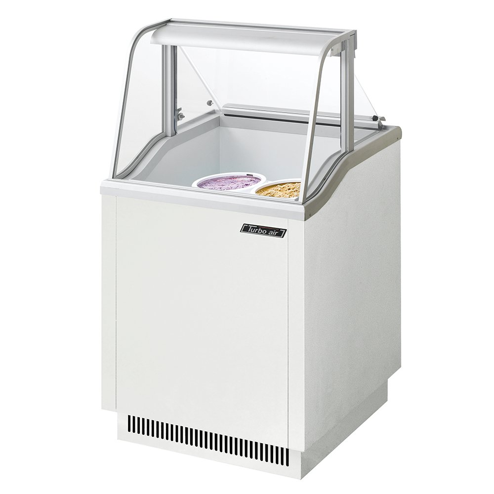 "Turbo Air TIDC26W 26"" Stand Alone Ice Cream Freezer w/ 4-Tub Capacity, 115v"