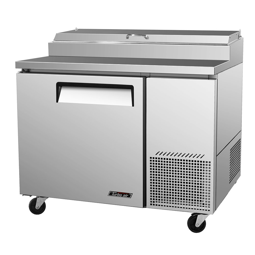 Turbo Air TPR-44SD Pizza Prep Table w/ 6-Condiment Pans & 1-Door, 14-cu ft