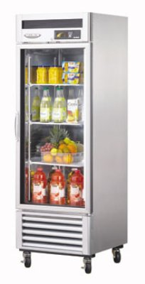 Turbo Air MSR-23G-1 Glass Door Refrigerator w/ Stainless Interior, 23-cu ft