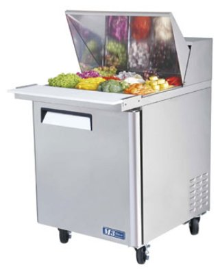 "Turbo Air MST-28-12 27.5"" Sandwich/Salad Prep Table w/ Refrigerated Base, 115v"