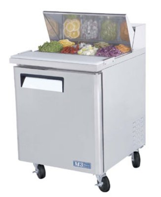 Turbo Air MST-28 Sandwich/ Salad Unit w/ (8) 1/6-Size Pan Capacity, 7-cu ft