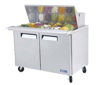 Turbo Air MST-48-18 Sandwich/ Salad Unit w/ (18) 1/6-Size Pan Capacity, 15-cu ft