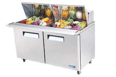 Turbo Air MST-60-24 Sandwich/ Salad Unit w/ (24) 1/6-Size Pan Capacity, 19-cu ft