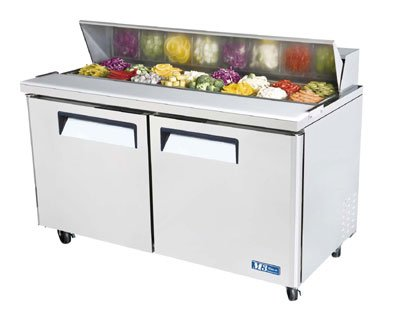 "Turbo Air MST-60 60.25"" Sandwich/Salad Prep Table w/ Refrigerated Base, 115v"