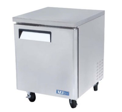 Turbo Air MUF-28 Undercounter Stainless Freezer w/ 1-Swing Door, 7-cu ft