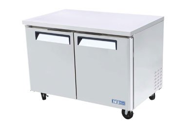 Turbo Air MUF-48 Undercounter Stainless Freezer w/ 2-Swing Doors, 12-cu ft
