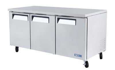 Turbo Air MUR-72 19-cu ft Undercounter Refrigerator w/ (3) Sections & (3) Doors, 115v