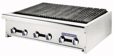 Turbo Air TARB-36 LP 36-in Countertop Charbroiler w/ Manual Controls, LP