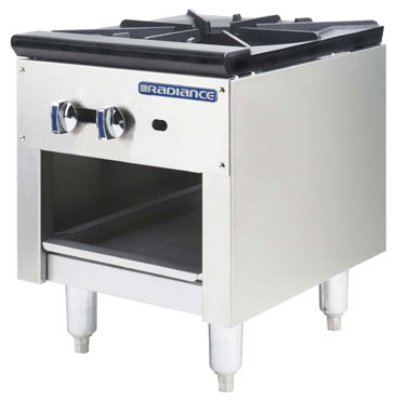 Turbo Air TASP-18 NG 18-in Stockpot Range w/ (1) 3-Ring Burner & Storage Base, NG