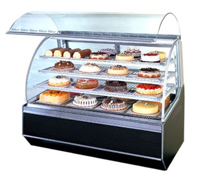 "Turbo Air TB-5 59.25"" Rear Access Dry Bakery Case w/ Curved Glass - (2) Wire Rack, 115v"