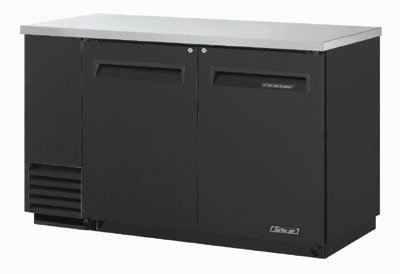 Turbo Air TBB-2SB 58.8-in Back Bar Cooler w/ 2-Solid Doors & Locks, Black/Stainless